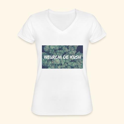 NEURCHI DE KUSH - T-shirt classique col V Femme