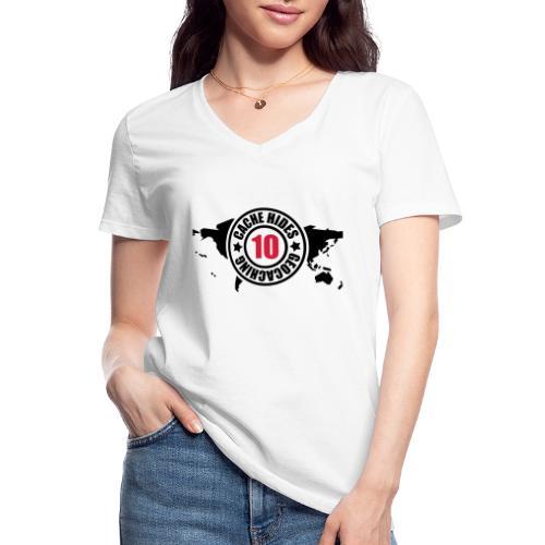 cache hides - 10 - Klassisches Frauen-T-Shirt mit V-Ausschnitt