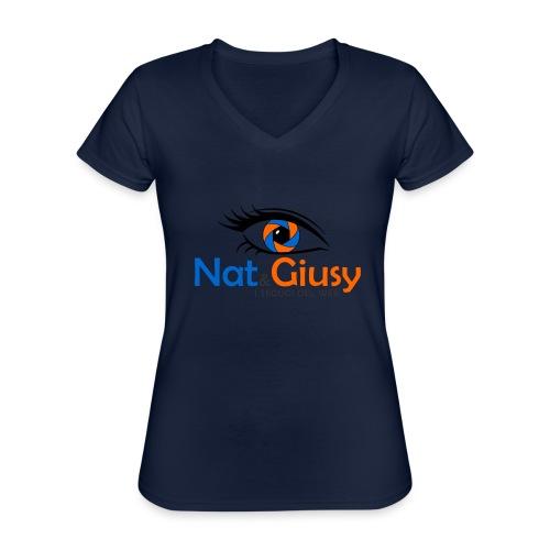 Nat e Giusy - Maglietta da donna classica con scollo a V