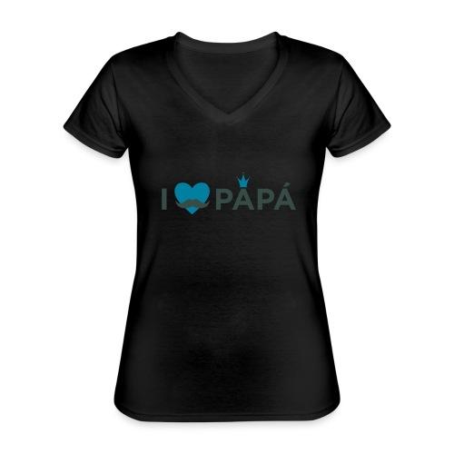 ik hoe van je papa - T-shirt classique col V Femme