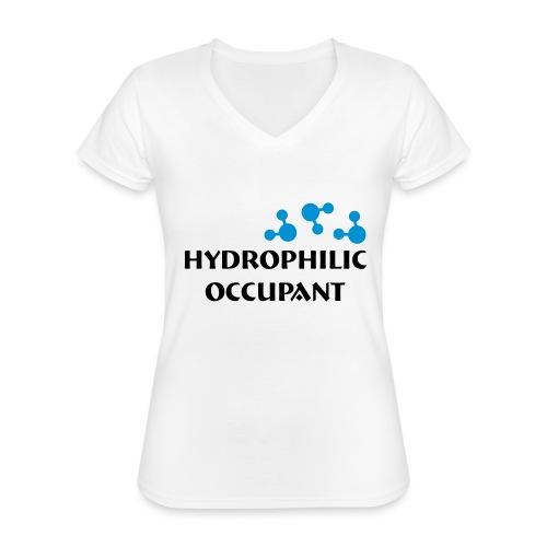 Hydrophilic Occupant (2 colour vector graphic) - Classic Women's V-Neck T-Shirt