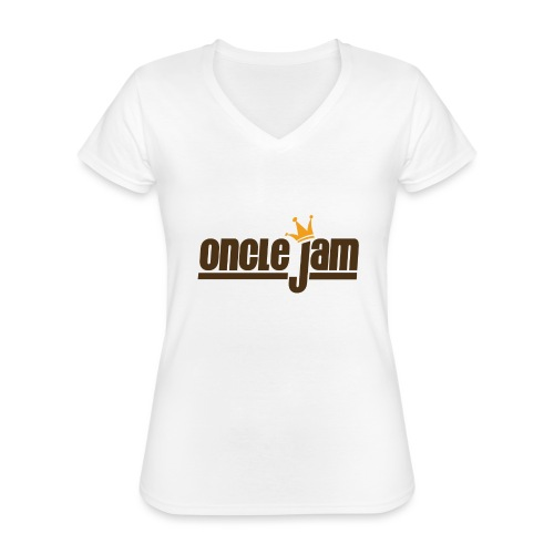 Oncle Jam horizontal brun - T-shirt classique col V Femme