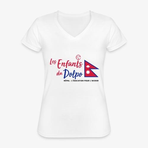 Les Enfants du Doplo - Grand Logo Centré - T-shirt classique col V Femme