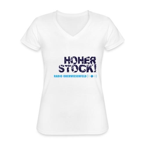 Unterbux Highsticking png - Klassisches Frauen-T-Shirt mit V-Ausschnitt
