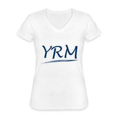 YRMSchriftzug - Klassisches Frauen-T-Shirt mit V-Ausschnitt