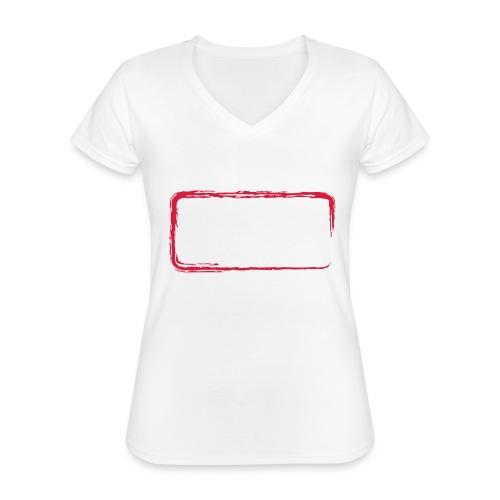 Rahmen_01 - Klassisches Frauen-T-Shirt mit V-Ausschnitt