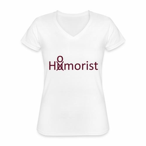HuOmorist - Klassisches Frauen-T-Shirt mit V-Ausschnitt