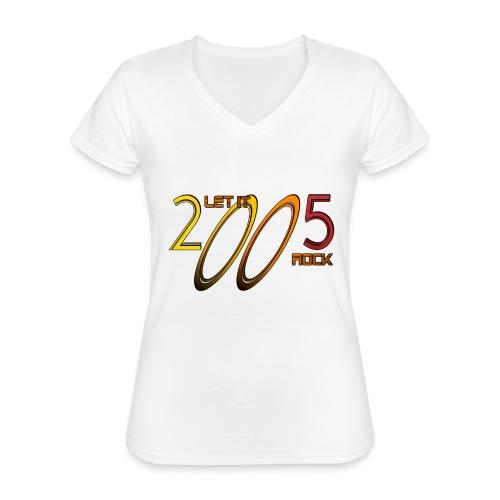 Let it Rock 2005 - Klassisches Frauen-T-Shirt mit V-Ausschnitt