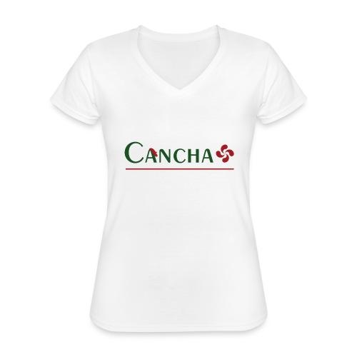 Cancha - T-shirt classique col V Femme