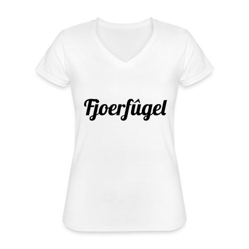 fjoerfugel - Klassiek vrouwen T-shirt met V-hals