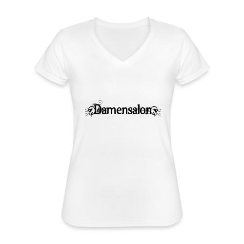 damensalon2 - Klassisches Frauen-T-Shirt mit V-Ausschnitt