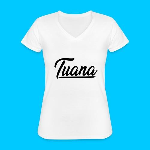 Tuana - Klassiek vrouwen T-shirt met V-hals