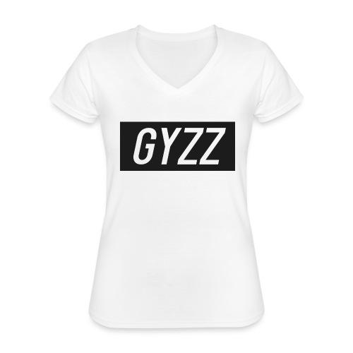 Gyzz - Klassisk dame T-shirt med V-udskæring