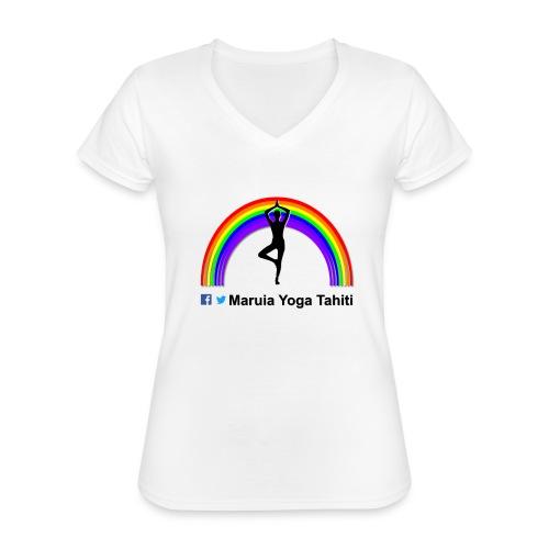 Logo de Maruia Yoga Tahiti - T-shirt classique col V Femme