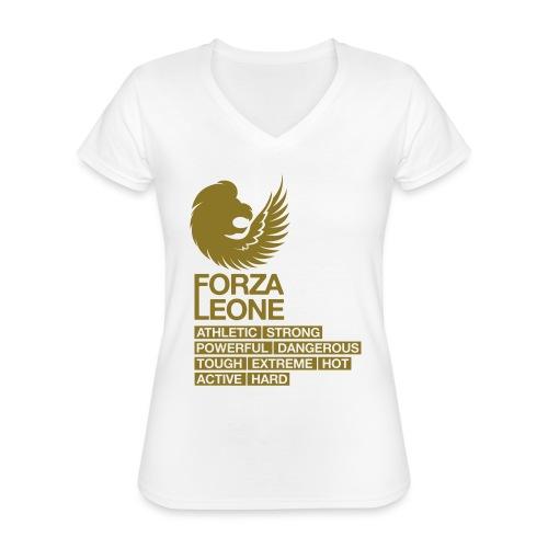Power shirt - Forza Leone - Klassiek vrouwen T-shirt met V-hals