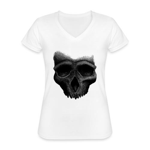 Simple Skull - T-shirt classique col V Femme