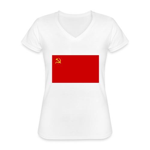 Eipä kestä - Klassinen naisten t-paita v-pääntiellä