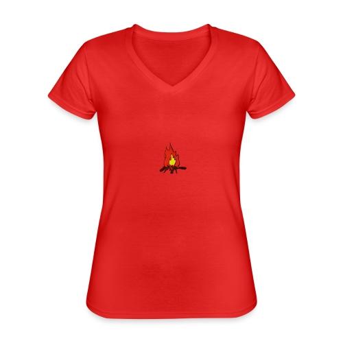 Fire color fuoco - Maglietta da donna classica con scollo a V