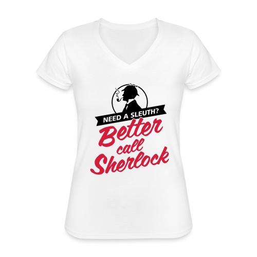 Better Call Sherlock - Klassisches Frauen-T-Shirt mit V-Ausschnitt