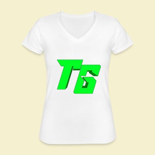 TristanGames logo merchandise [GROOT LOGO] - Klassiek vrouwen T-shirt met V-hals