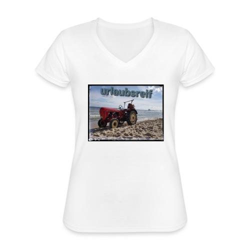 urlaubsreif - Klassisches Frauen-T-Shirt mit V-Ausschnitt