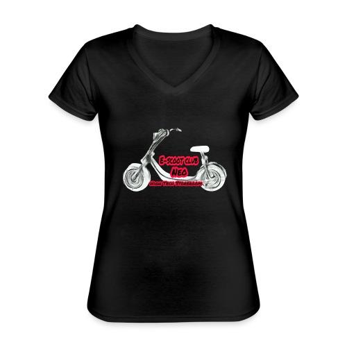 Neorider Scooter Club - T-shirt classique col V Femme