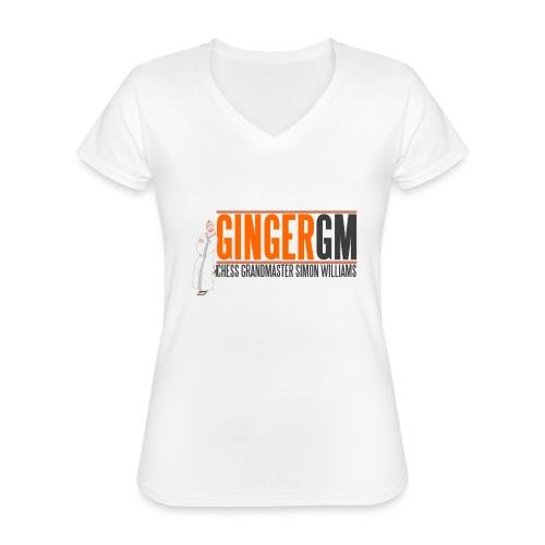 Ginger GM Logo - Classic Women's V-Neck T-Shirt