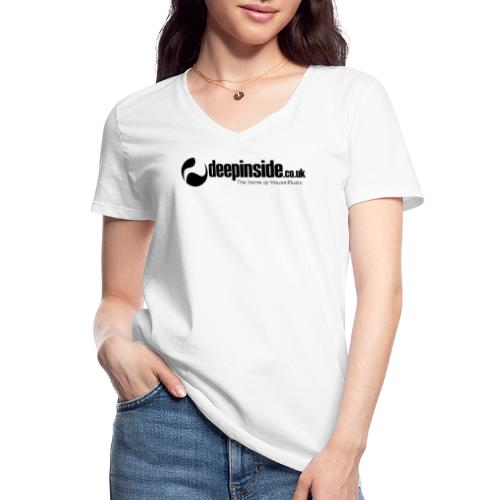 DEEPINSIDE The home of House-Music (Black) - Classic Women's V-Neck T-Shirt