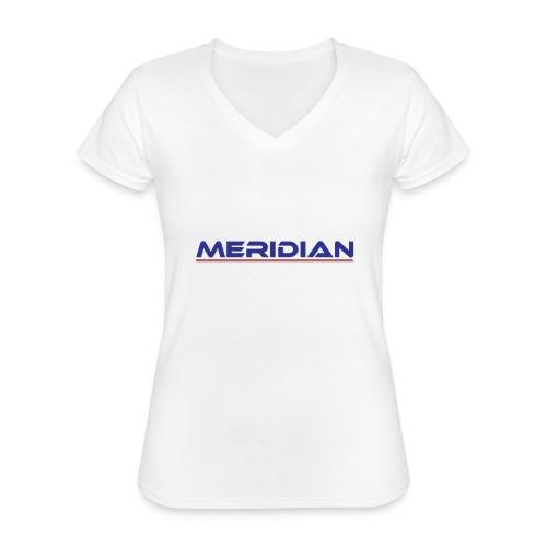 Meridian - Maglietta da donna classica con scollo a V