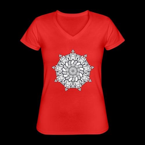 Mandala - Maglietta da donna classica con scollo a V