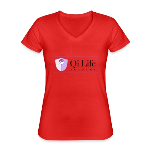 Qi Life Academy Promo Gear - Classic Women's V-Neck T-Shirt