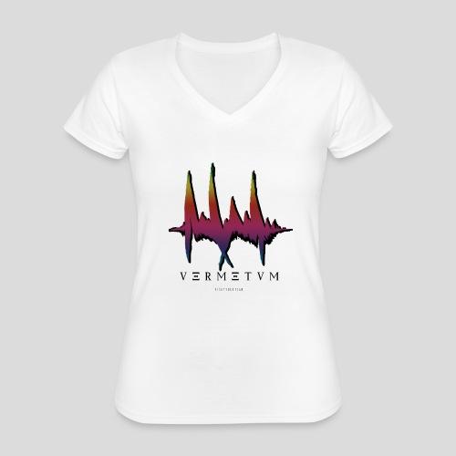 VERMETUM BLACK EDITION - Klassisches Frauen-T-Shirt mit V-Ausschnitt