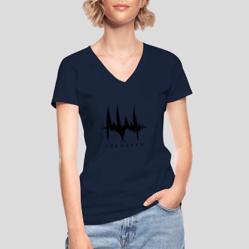 VERMETUM COLORLESS EDITION - Klassisches Frauen-T-Shirt mit V-Ausschnitt