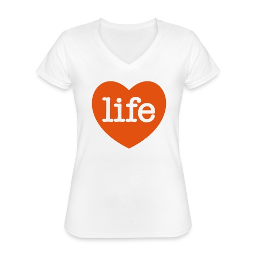LOVE LIFE heart - Classic Women's V-Neck T-Shirt