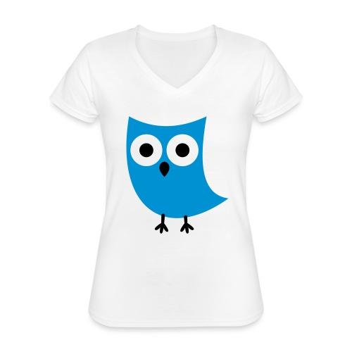 Uiltje - Klassiek vrouwen T-shirt met V-hals