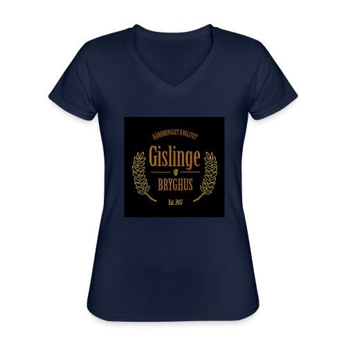 Sort logo 2017 - Klassisk dame T-shirt med V-udskæring