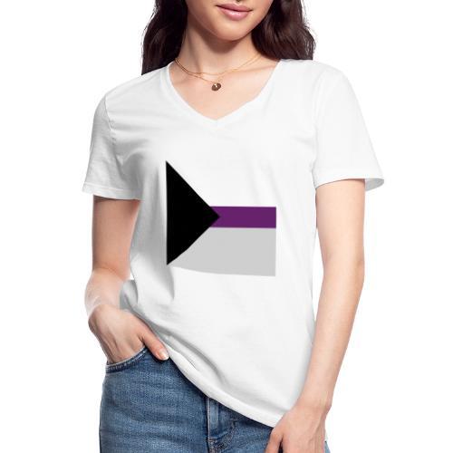 Demisexuell Flagge - Klassisches Frauen-T-Shirt mit V-Ausschnitt