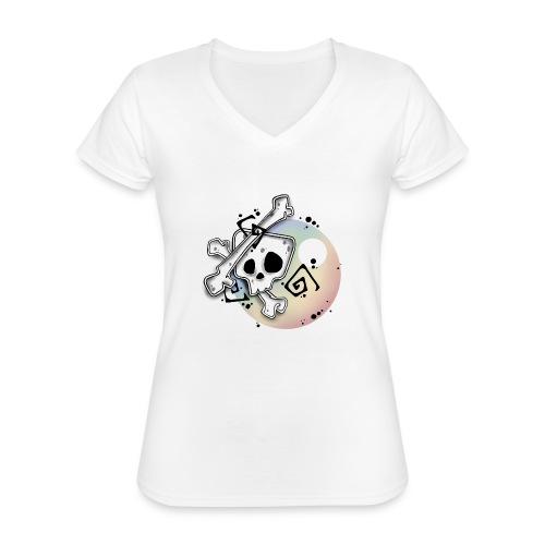 Head Fall - T-shirt classique col V Femme