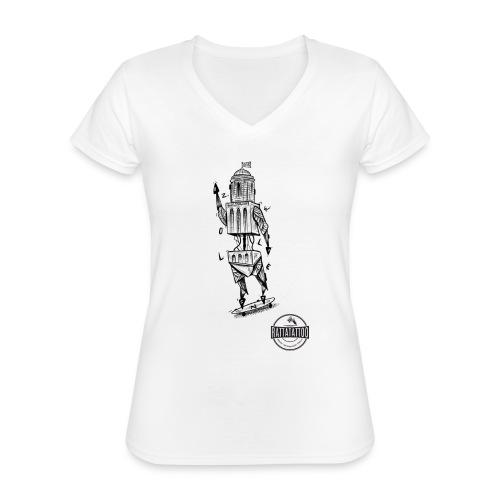 ZWOLLE 038 rattatattoo zwolle perperbus - Klassiek vrouwen T-shirt met V-hals