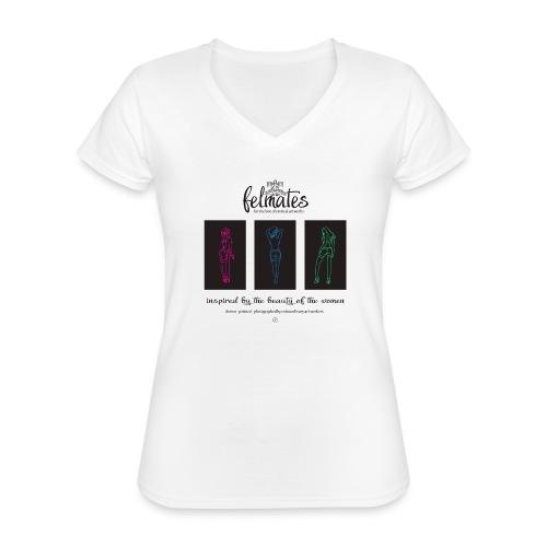 The felmates erotical artworks 3 - Klassisches Frauen-T-Shirt mit V-Ausschnitt