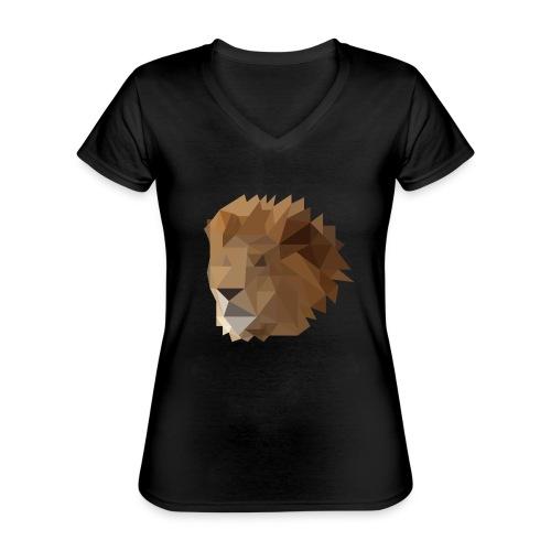 Löwe - Klassisches Frauen-T-Shirt mit V-Ausschnitt