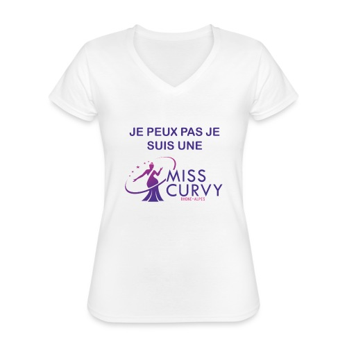 MISS CURVY Je peux pas - T-shirt classique col V Femme
