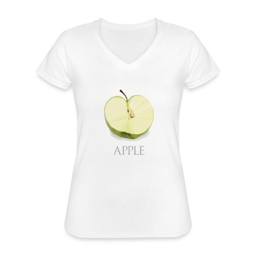 Pomme tranchée - T-shirt classique col V Femme