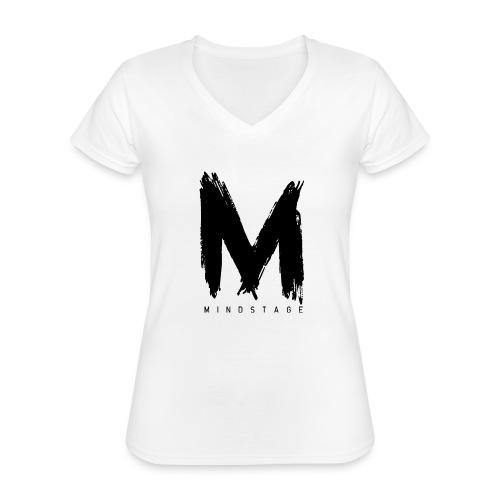 Logo Schwarz - Klassisches Frauen-T-Shirt mit V-Ausschnitt