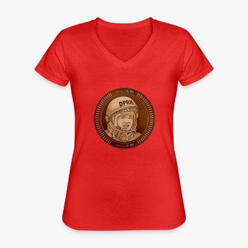 KIM Token - T-shirt classique col V Femme