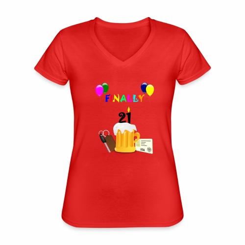 Finally 21 (2) - Classic Women's V-Neck T-Shirt
