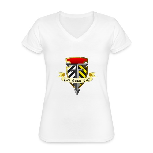 TOC Gothic Clear Background 1 - Classic Women's V-Neck T-Shirt