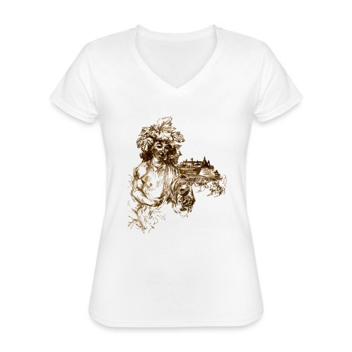 Bacchus 010 - Klassisches Frauen-T-Shirt mit V-Ausschnitt