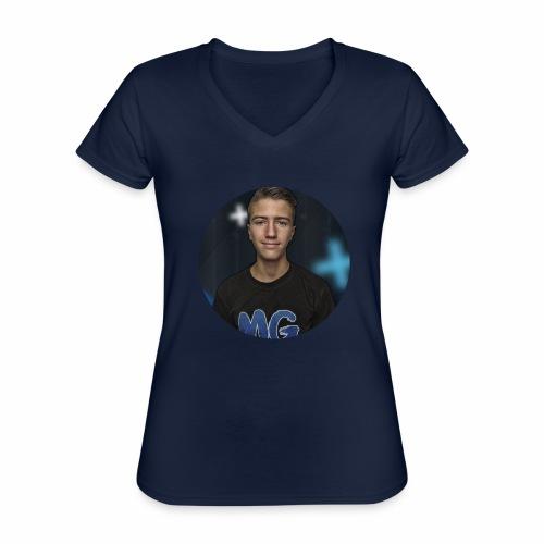 Design blala - Klassiek vrouwen T-shirt met V-hals