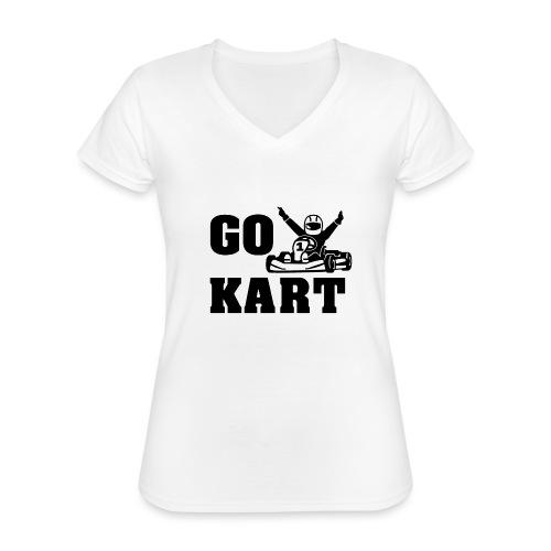 Go kart - T-shirt classique col V Femme